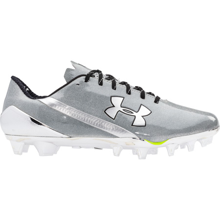 under armour spotlight cleats all white